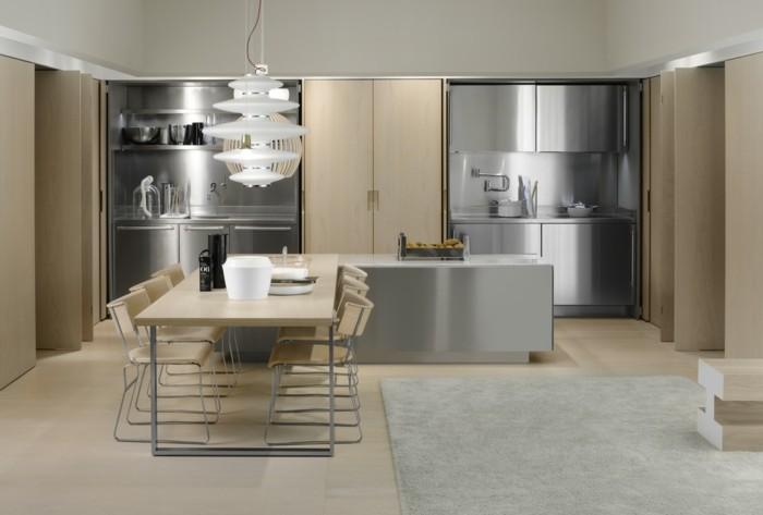 Superior Küchengestaltung Italienische Kuchen Modernes Kuchendesign Helles Holz  Aluminium Matt Glanz