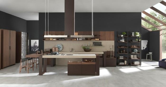 kuechengestaltung kuchendesign italienisch holzmobel kuchenzeile minimalistische einrichtung