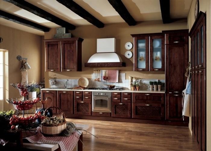 kuchengestaltung landhausstil rustikale kuche italienisches design