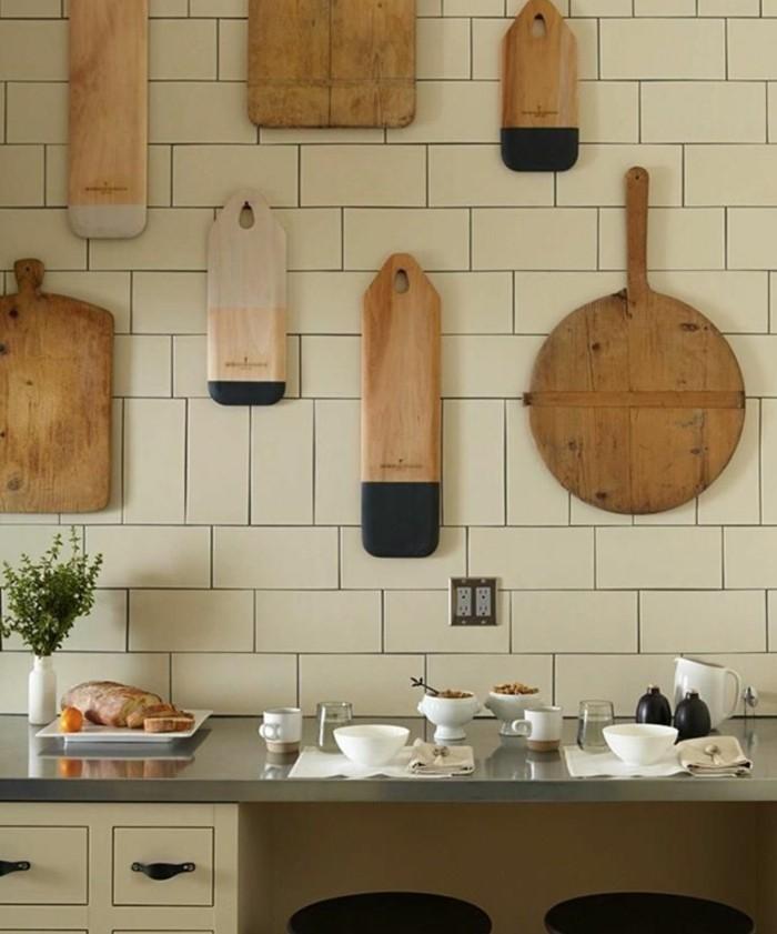kuchenideen dekoideen wanddesign ideen schneidbretter