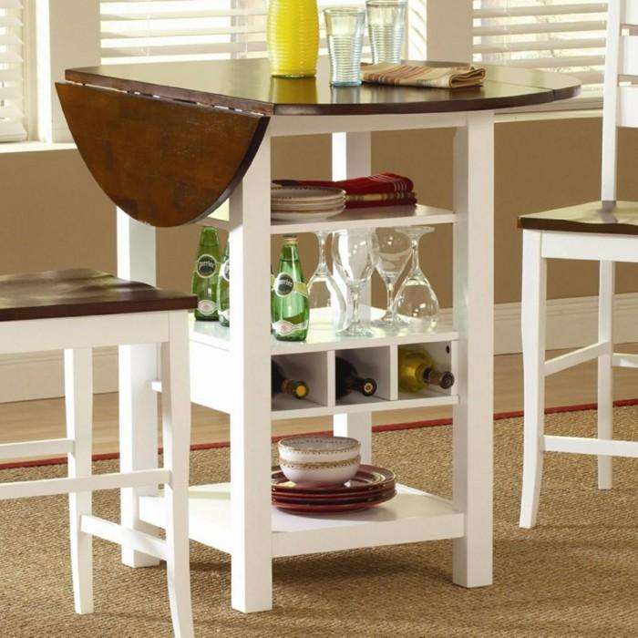 küchen ideen klappbare möbel raum sparen