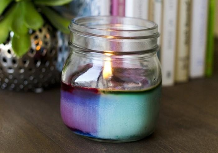 farbige kerzen selber machen, kerzen deko - tolle diy ideen, wie sie deko mit geschmolzenen kerzen, Design ideen