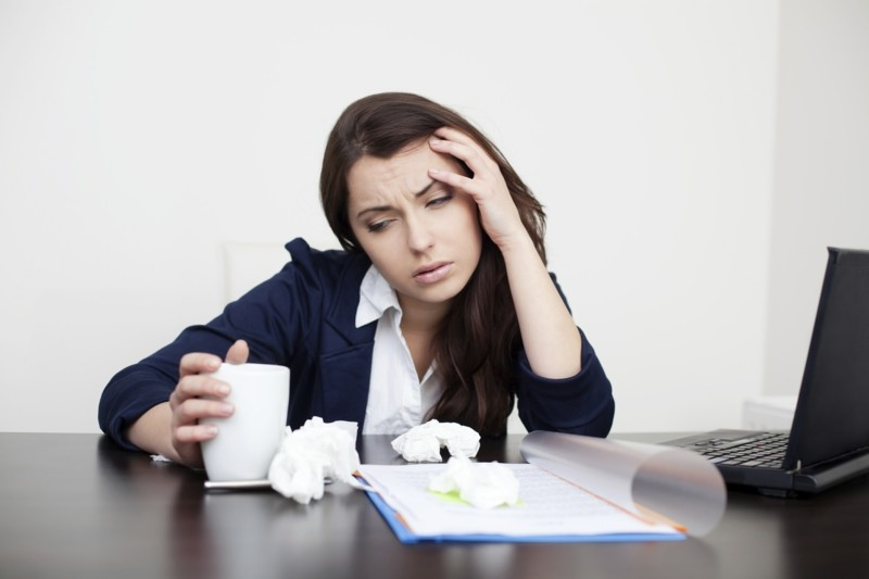 krank im büro erkältung stoppen und vorbeugen