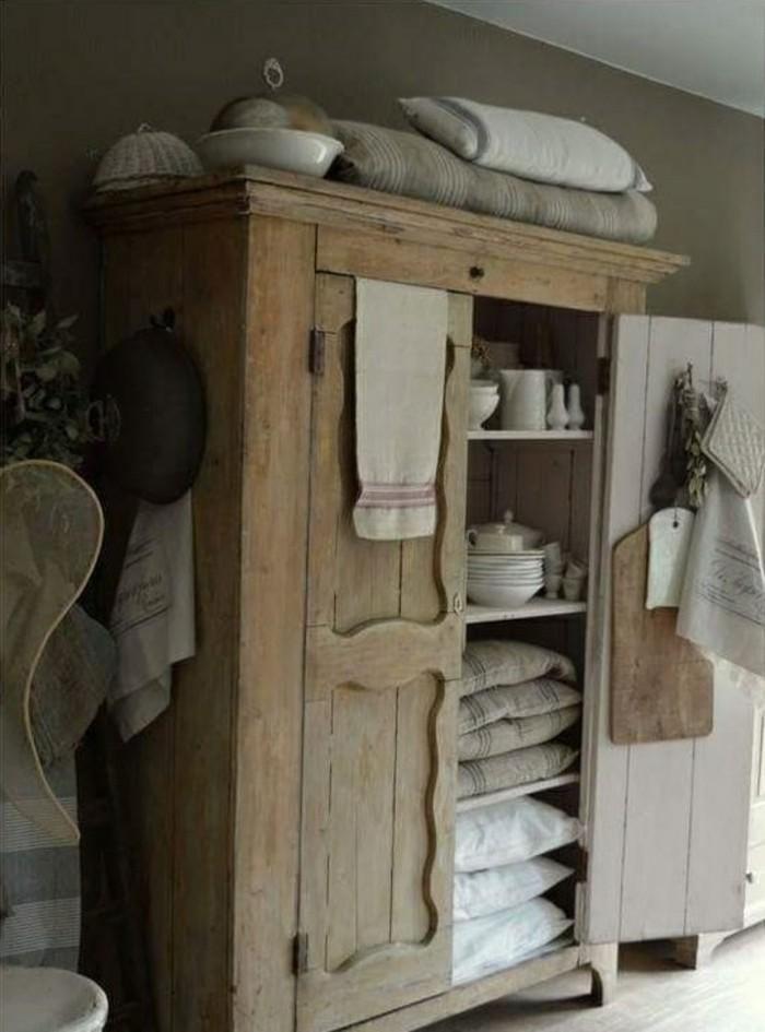 holz schrank wohnzimmer einrichtung, einrichtung im landhausstil - landhausmöbel und rustikale deko ideen, Design ideen