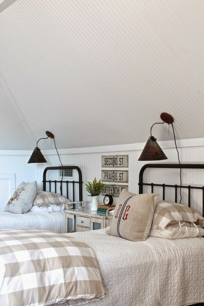 landhausmoebel einrichtung landhausstil schlafzimmer bettwasche