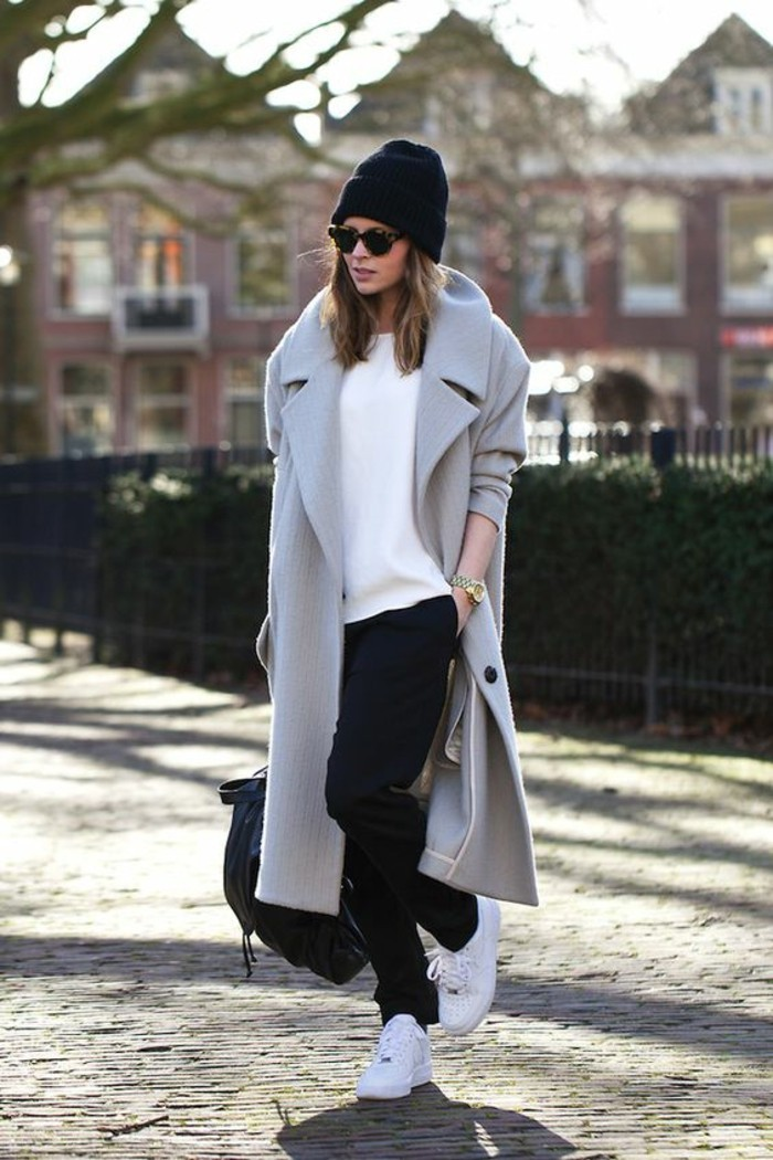 mantel grau damen aktuelle modetrends herbstmode farben