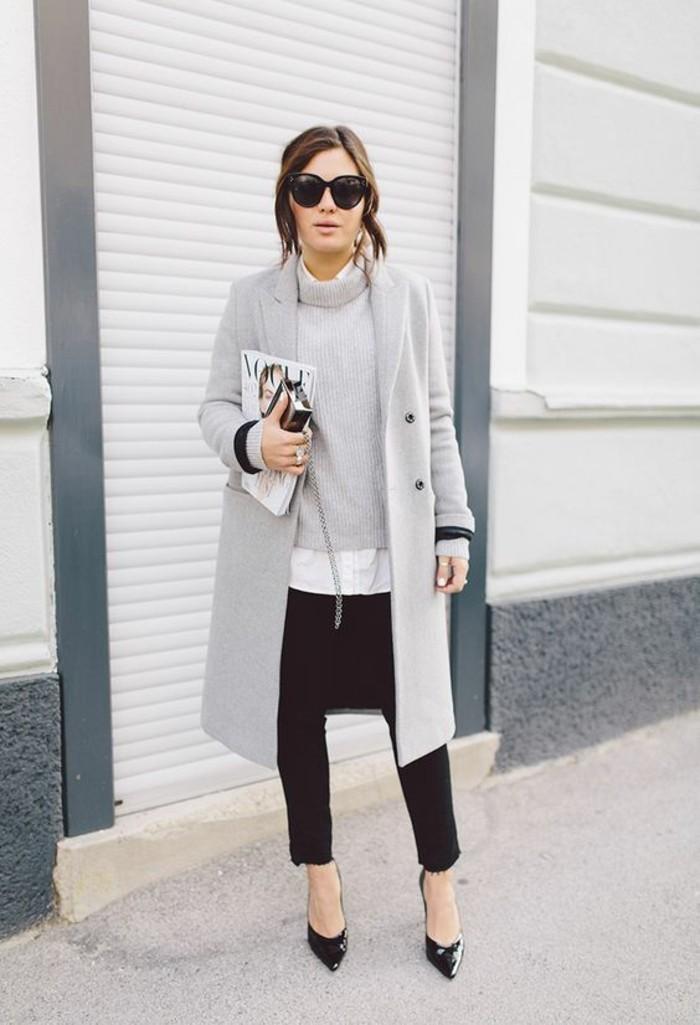mantel grau damen modetrends herbstmode bilder