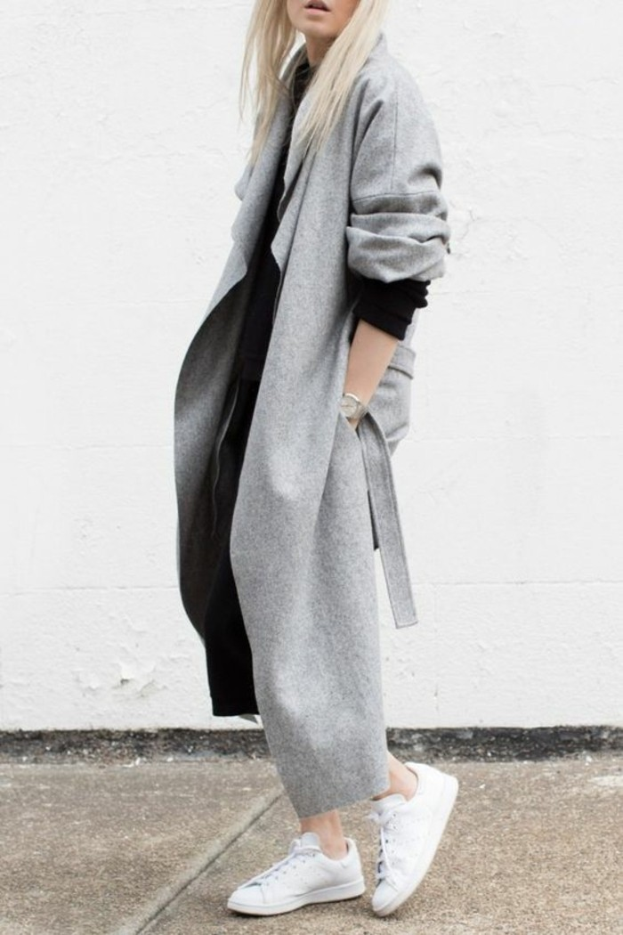 womit l sst sich ein grauer mantel kombinieren 70 outfits. Black Bedroom Furniture Sets. Home Design Ideas