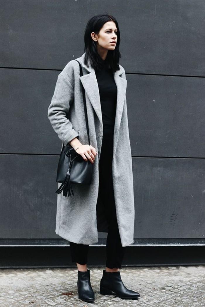 mantel grau damen modetrends herbstmode damenmode knochellang