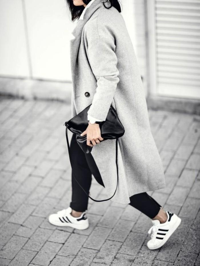 mantel grau damen modetrends herbstmode farben hellgrau
