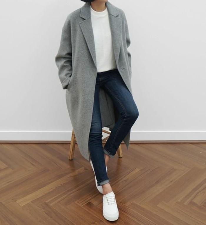 mantel grau damen modetrends herbstmode klassicher damenmantel