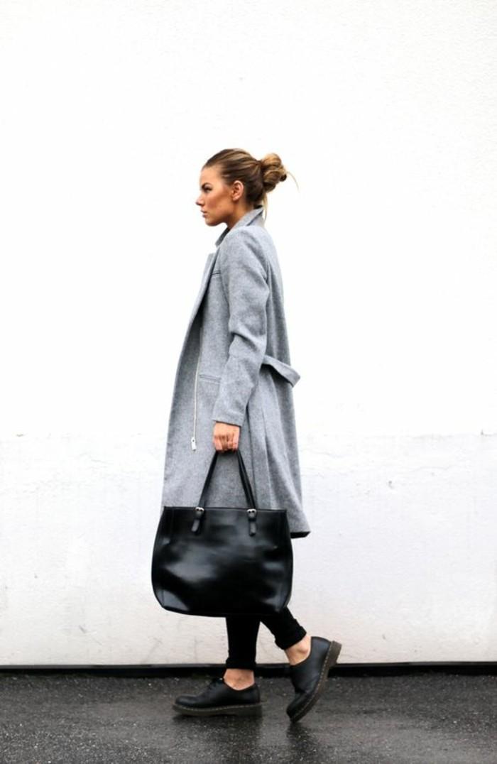 mantel grau damen modetrends herbstmode langer mantel