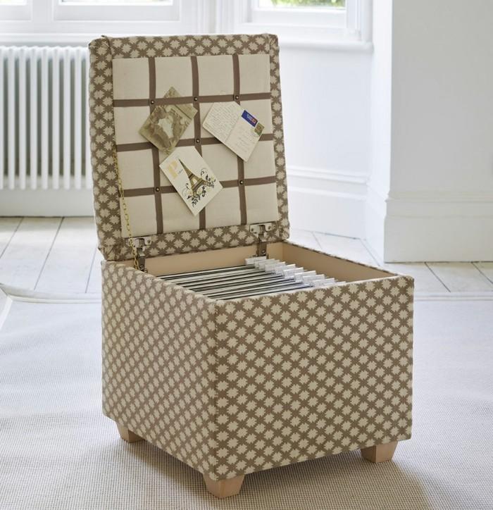 moderne inneneinrichtung funktionale möbel hocker stauraum