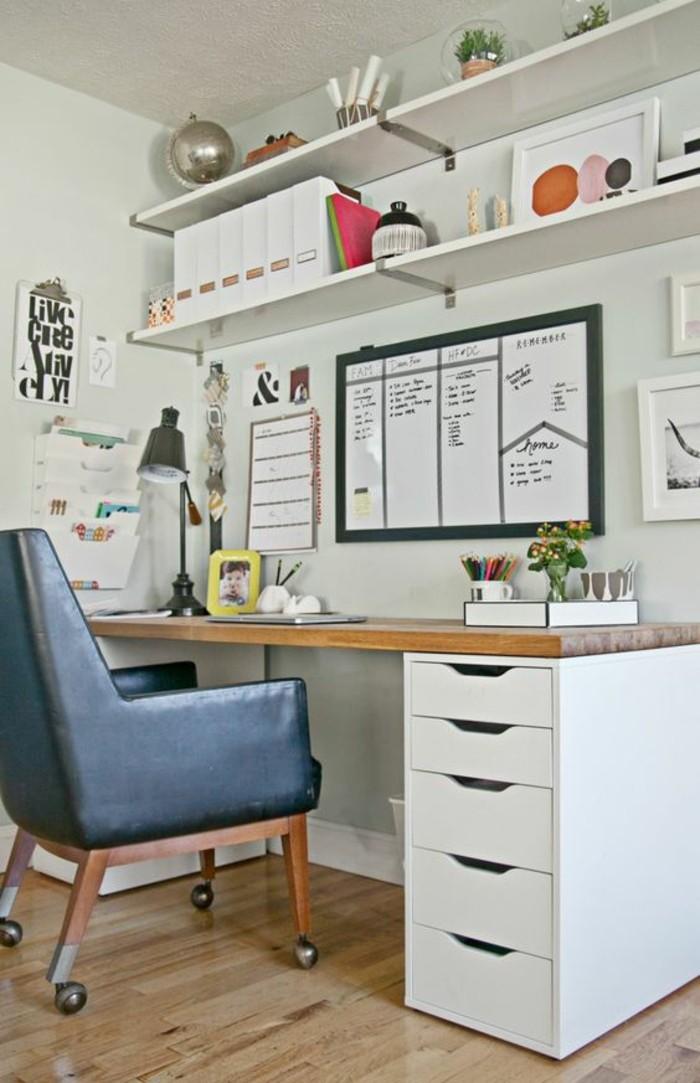 moderne inneneinrichtung home office ideen schubladen offene regale