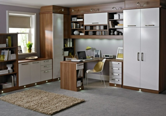 moderne inneneinrichtung 63 ideen wie sie das home office organisieren. Black Bedroom Furniture Sets. Home Design Ideas