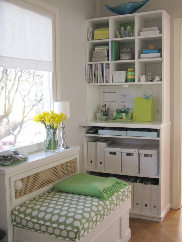 moderne inneneinrichtung home office ideen stauraum ideen