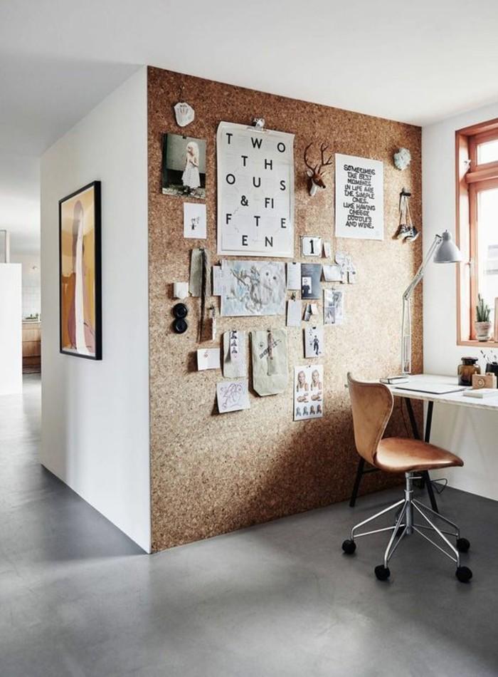 moderne inneneinrichtung home office ideen wandfläche benutzen
