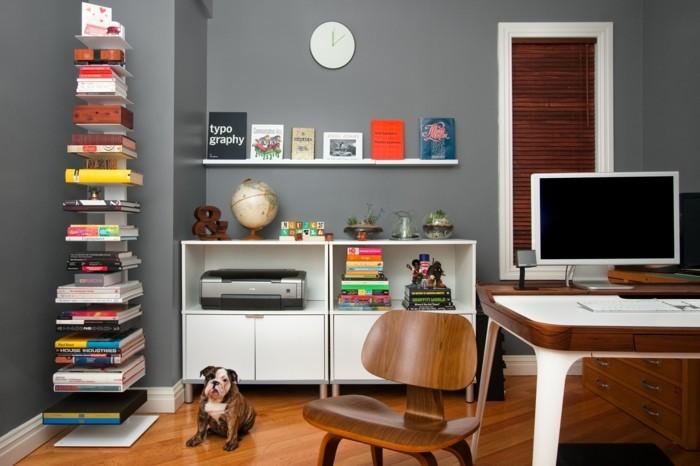 moderne inneneinrichtung home office moderne ideen stauraum organisation