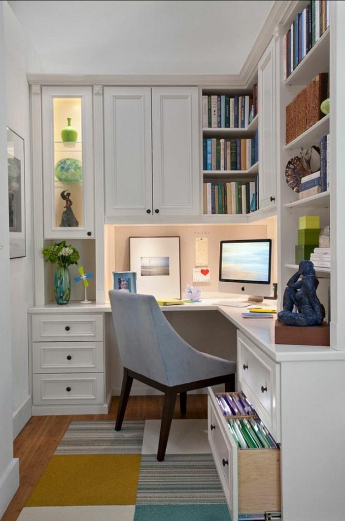moderne inneneinrichtung home office regale stauraum teppich