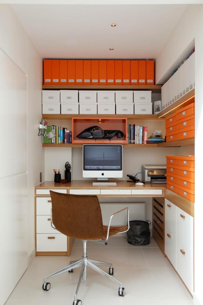 moderne inneneinrichtung ideen kleines home office gestalten bodenfliesen