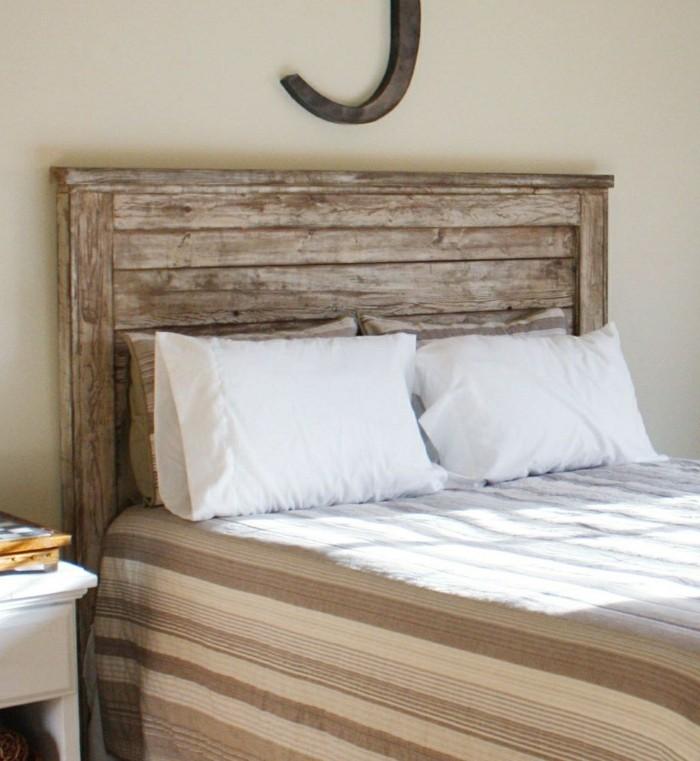 wohnideen schlafzimmer hölzernes bettkopfteil schlafbereich gestalten ideen