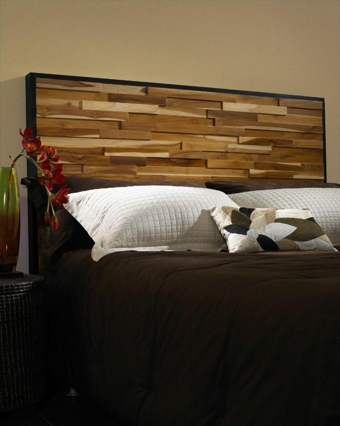 wohnideen schlafzimmer kopfbrett 3d effekt