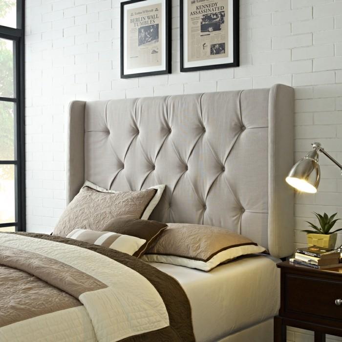 wohnideen schlafzimmer kopfbrett stoff kreative ideen