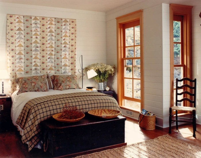Wohnideen Schlafzimmer Kreative Ideen Bettkopfteil Teppichläufer