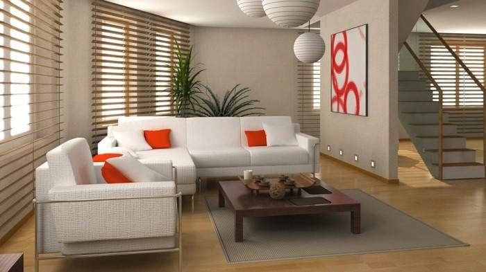 wohnzimmer gestaltung helle möbel pflanzen