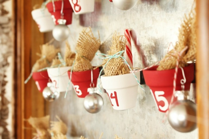 adventskalender selber basteln diy ideen weihnachtskugeln