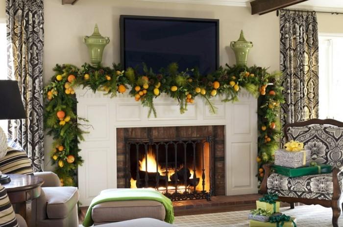 Deko Zu Weihnachten Kamin Feuer Geschenke