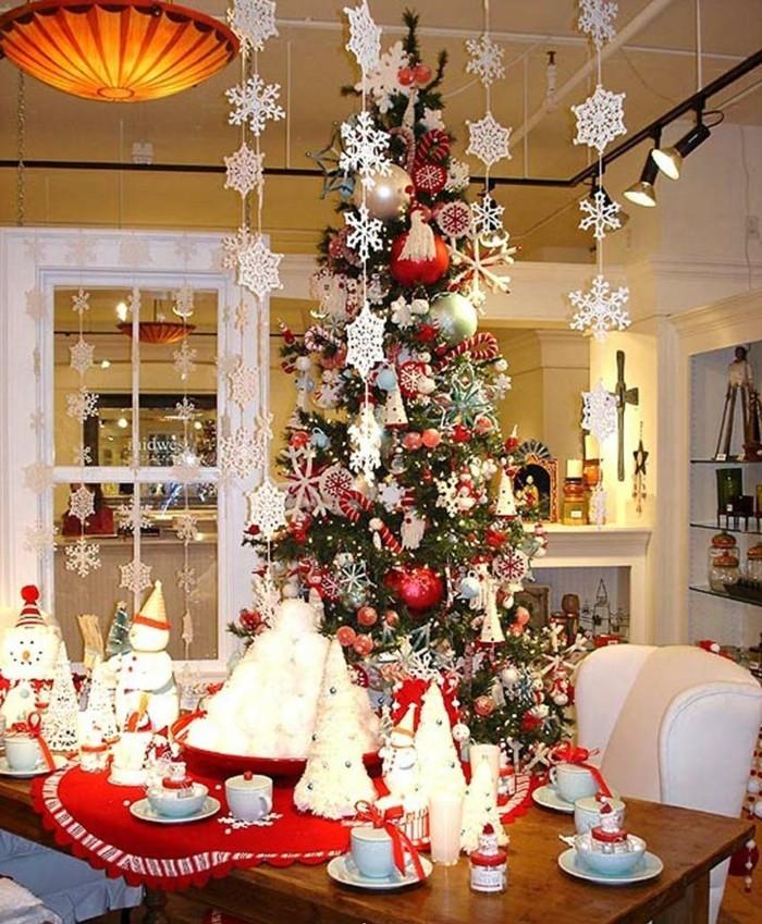 esszimmer gestalten festliche tischdeko weihnachtsbaum