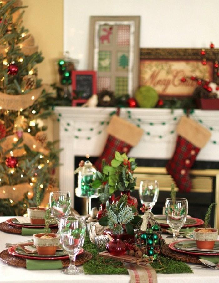 Esszimmer Gestalten Rustikal Weihnachtliche Dekoideen