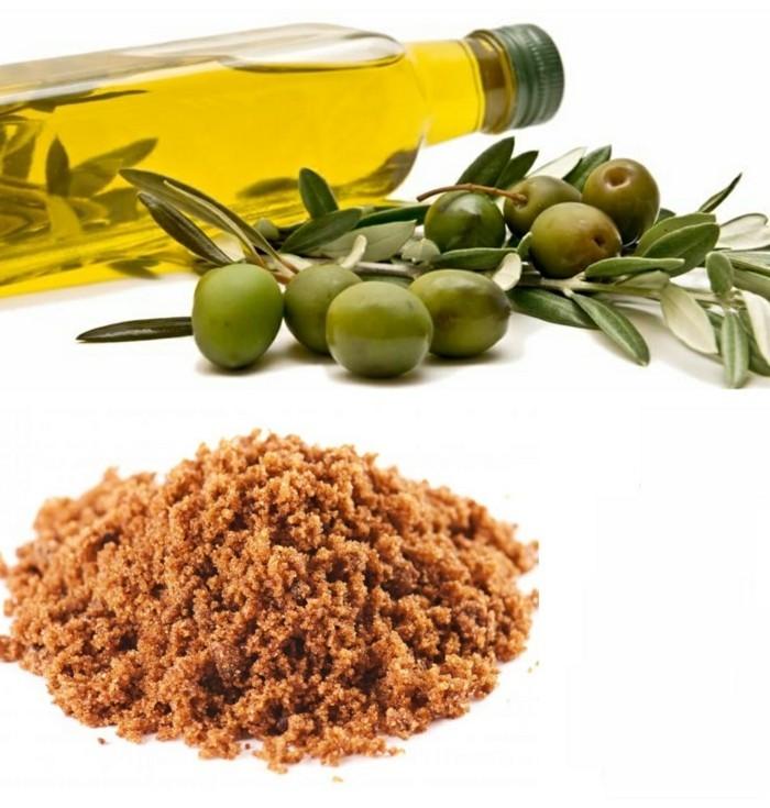 hautpflege tipps trockene haut winter olivenol brauner zucker