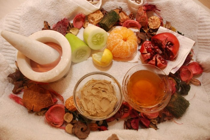 hautpflege tipps winter hausmittel obst vitamine mineralien