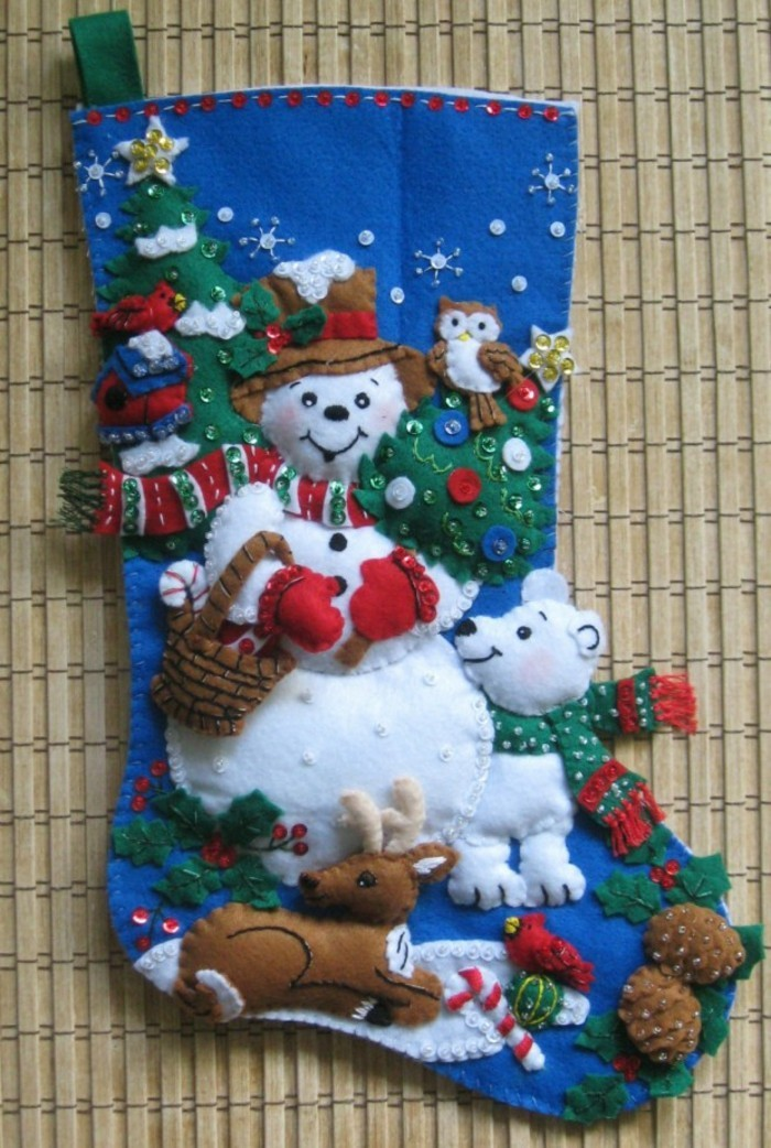 ideen fuer weihnachten wolle handgemacht filz