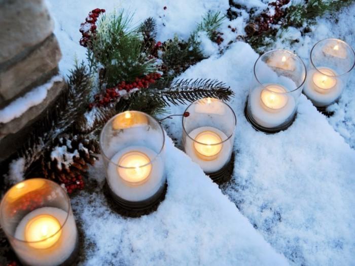 ideen fuer weihnachten fensterdeko zimmer stimmung