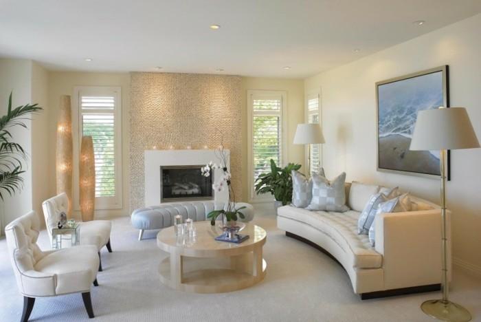 inneneinrichtung ideen modernes wohnzimmer akzentwand dekoideen