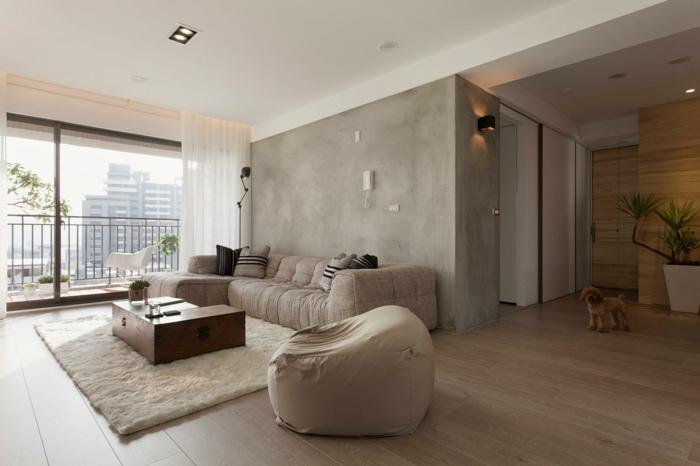 inneneinrichtung ideen modernes wohnzimmer beige farbnuancen