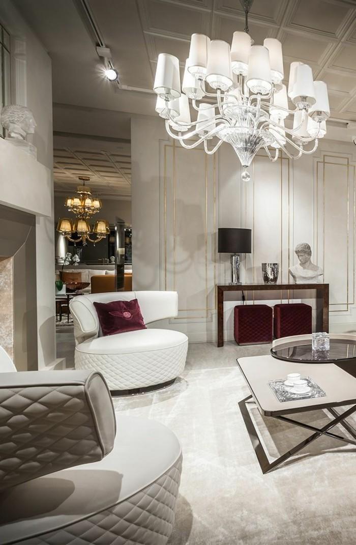 inneneinrichtung ideen wohnzimmer luxurioes weisses interieur