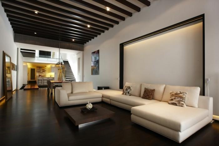 inneneinrichtung ideen wohnzimmer moderne einrichtung schoene dekokissen