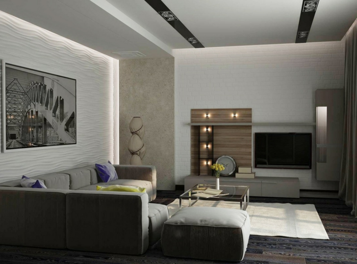 inneneinrichtung ideen zeitgenoessisches innendesign wohnzimmer