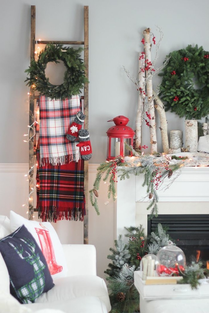 Inneneinrichtung Wohnzimmer Skandinavischer Stil Weihnachten