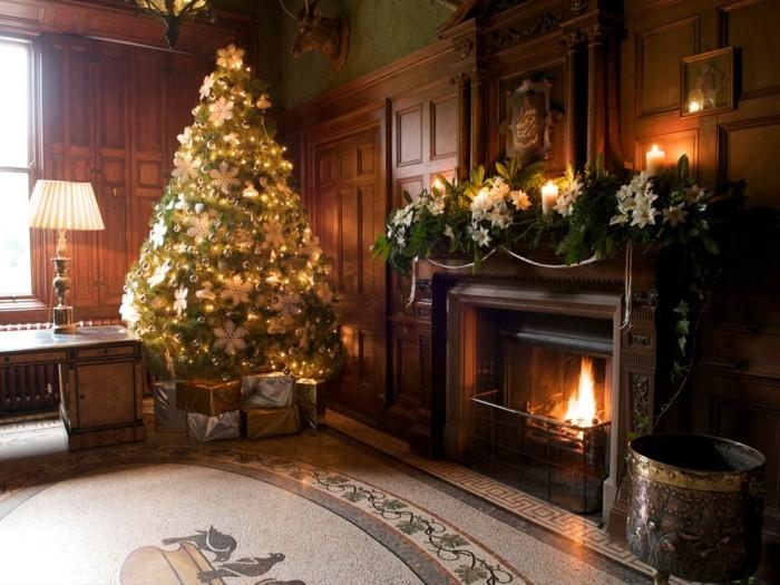 Inneneinrichtung Wohnzimmer Weihnachten Gemuetliches Innendesign