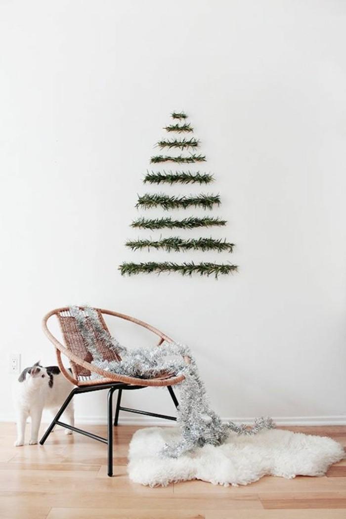 inneneinrichtung wohnzimmer weihnachten wanddeko girlande