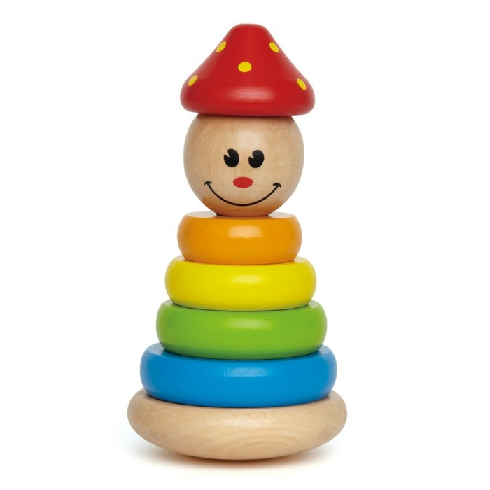 kinderspielzeug holz stapel clown hape