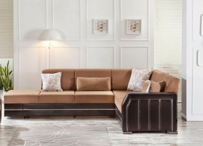 moderne sofas ecksofa schoener bodenbelag pflanzen