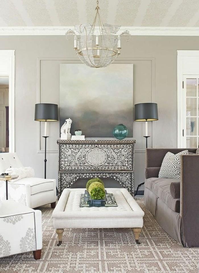 moderne sofas graues wohnzimmersofa teppich kamin dekoideen
