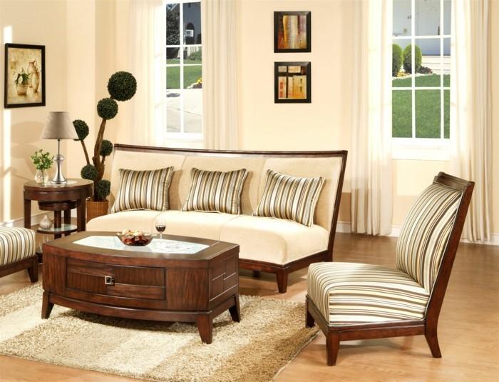 moderne sofas helle wandfarbe deko pflanzen wandbilder