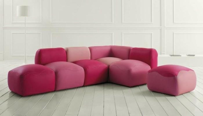 moderne sofas leder module pink violett rosa couch